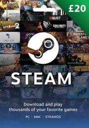 UK Steam 20 Mārciņu Dāvanu Karte