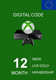 EU Xbox Live Gold 12 Mēnešu Abonements (Xbox One & 360)
