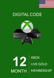 USA Xbox Live Gold 12 Mēnešu Abonements