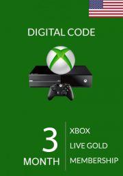 USA Xbox Live Gold 3 Mēnešu Abonements
